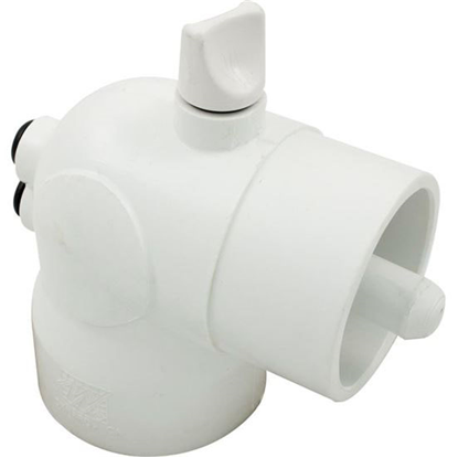 Picture of Thermowell: Pvc 90° 2' Slip X Spigot X 3/8' Bleeder With 5/16' And 3/8' Thermowell- 400-6040
