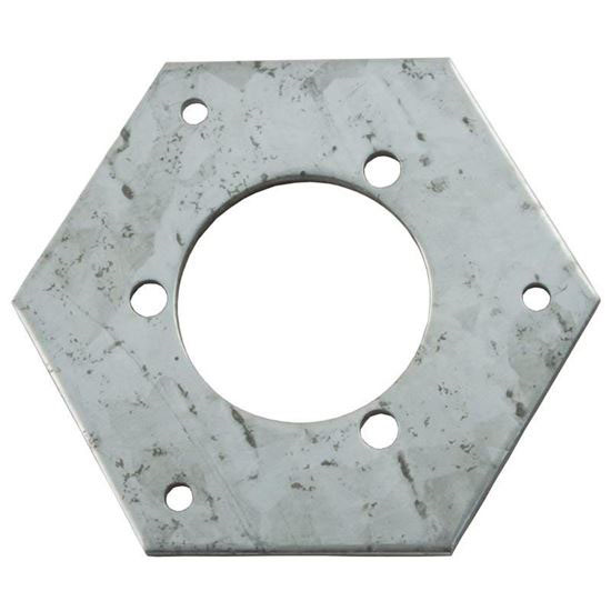"Picture of Adapter Plate, Vulcan Box, 1-1/4""ID, 2-1/2"" hex OD"