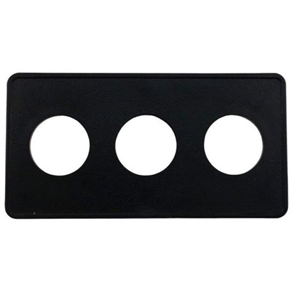 Picture of Air Button Deckplate, Len Gordon 15 Classic Touch, 3 Button 951523-000