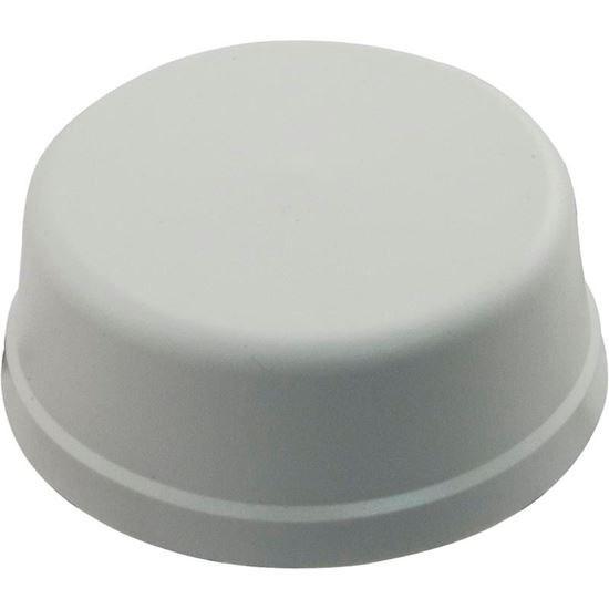 "Picture of Air Button, Herga, Mushroom, 1/4""hs, 2-9/16""fd, w/o Tubing, Wht 6439-CZZZ"