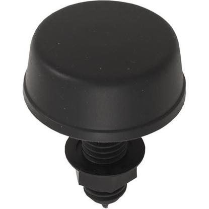 """Picture of Air Button, Herga, Mushroom, 13/16""""hs, 2-1/4""""fd, Thd, Black 6433-AZZZ"""