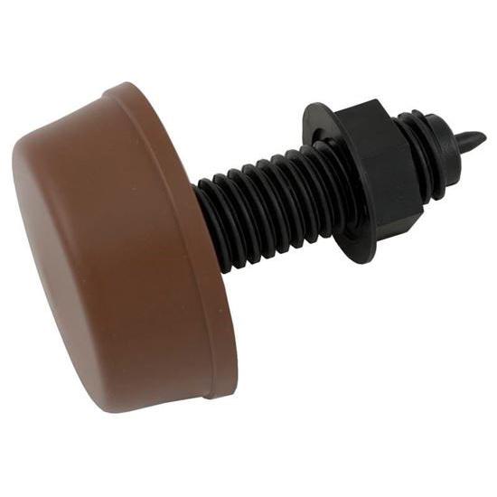 "Picture of Air Button, Herga, Mushroom, 13/16""hs, 2-1/4""fd, Thd, Brown 6433-ZEZZ"