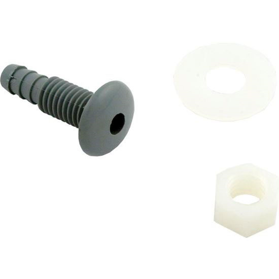 Picture of 670-2137 Air Injector: Button 3/8' Single Hole With Nut Gray-670-2137