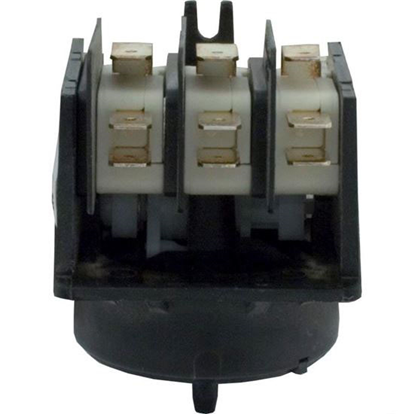 Picture of Air Switch, Herga, 4 Function, 3PDT, 20A, Ctr Spout, Wht Cam  59-345-3120