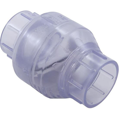 "Picture of Check Valve, Flo Control, Swing, 2"" Slip, Clear 1520C20"