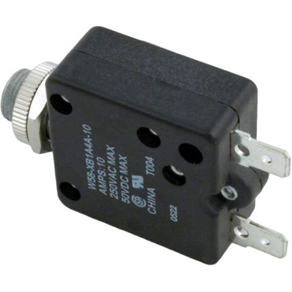 Picture of Circuit Breaker, Panel Mount, 10A, 115v