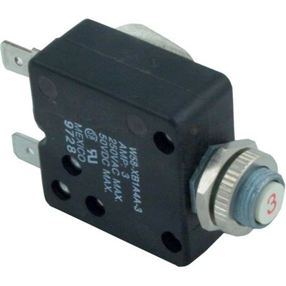 Picture of Circuit Breaker, Panel Mount, 3A, 115v