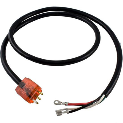 """Picture of Cord H-Q P1 2 Speed Molded/Lit 48"""" 115v/230v 15A Red 30-0220-48"""