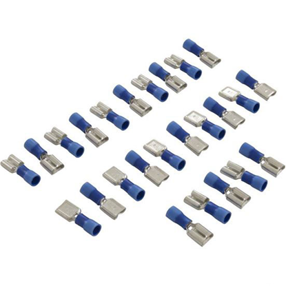 Picture of Disconnect, Female, 16-14awg, .250 Tab, Blue, Quantity 25  60-555-1766