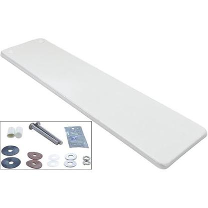 Picture of Dive Board, Inter-Fab Techni-Beam, 6ft, Wht W/Top Tread, Hdwr Tb6ww