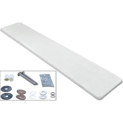 Picture of Dive Board, Inter-Fab Techni-Beam, 8ft, White W/Top Tread, Hdwr Tb8ww