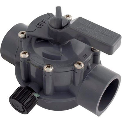 """Picture of Diverter Valve, Jandy/Zod, 1-1/2""""s/2""""spg Pos Seal, 2 Way, Gray 1157"""