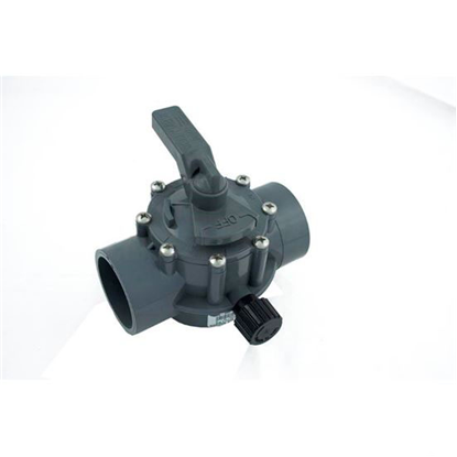 """Picture of Diverter Valve, Jandy/Zod, 2""""s/2-1/2""""spg Pos Seal, 2 Way, Gray 2876"""