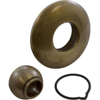 Picture of Escutcheon, Bwg/Gg, W/Dir Eyeball, Smth, Satin Brass 6010-Sb