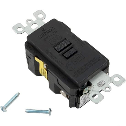 Picture of Gfci, Leviton, 20a, Spst, Deadfront, Black 8590-Xe