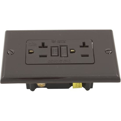 Picture of Gfci, Leviton, 20a, Spst, Plugface, Brown N7899
