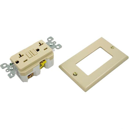 Picture of Gfci, Leviton, 20a, Spst, Plugface, Ivory Gfnt2-I