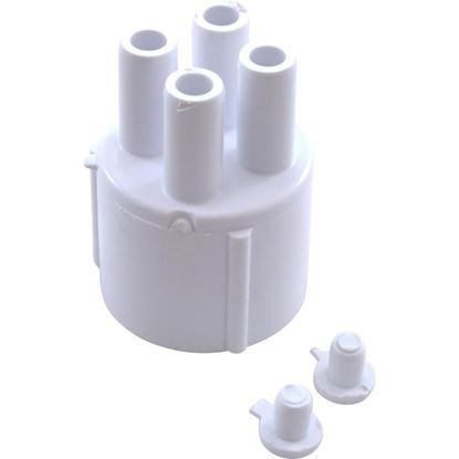 """Picture of Manifold, 3/8"""" Smooth Barb, 4 Port, Transition, 1"""" Slip 672-4040"""