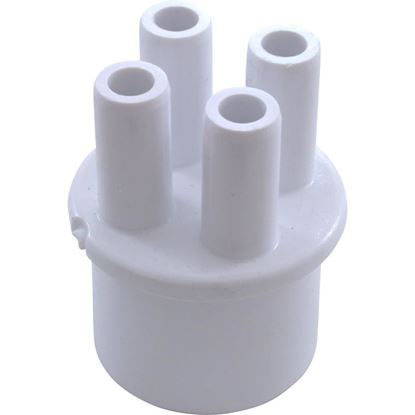 """Picture of Manifold, 3/8"""" Smooth Barb, 4 Port, Transition, 1"""" Spigot 672-4030"""
