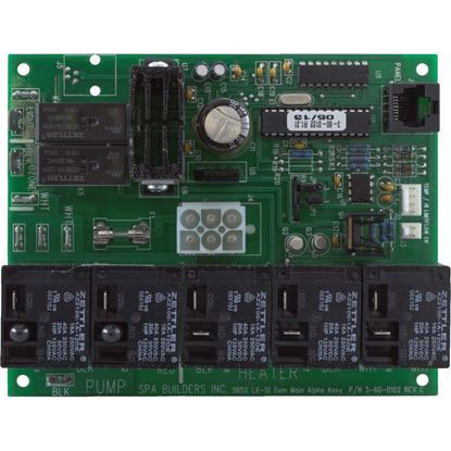 Picture of 3-60-0122 Pcb Spa Builders Lx-10 Numeric Rev. 1.31