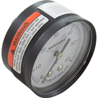 "Picture of Pressure Gauge, 1/4""mpt, 0-60psi, Back Mount, Generic Ippg602-4b"
