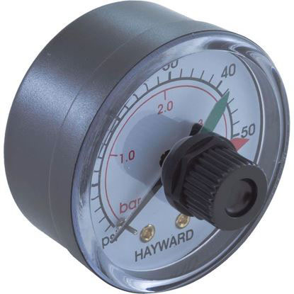 "Picture of Pressure Gauge, Hayward, 1/4""mpt, 0-60psi, Back Mount, Adj Dial ECX2712B1"