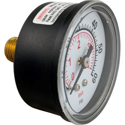 "Picture of Pressure Gauge, Pentair, 1/4""mpt, 0-60psi, Back Mount 190059"