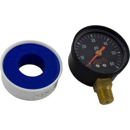 "Picture of Pressure Gauge, Zodiac Jandy, 1/4""mpt, 0-60psi, Bottom Mount R0556900"