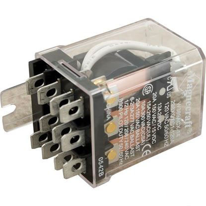 Picture of Relay, 3pdt, 25a, 115v, Dustcover 389fxcxc1-120a