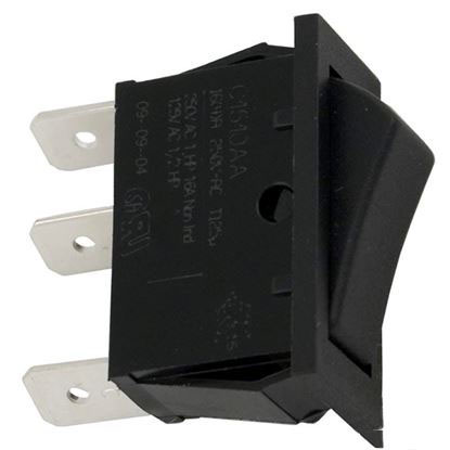 Picture of Rocker Switch SPDT, 16A, 115v, small size  60-555-1614