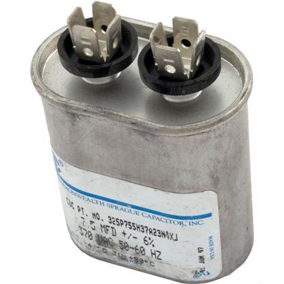 "Picture of Run Capacitor 7.5 MFD, 370v, 2"" x 2-5/8"" oval"