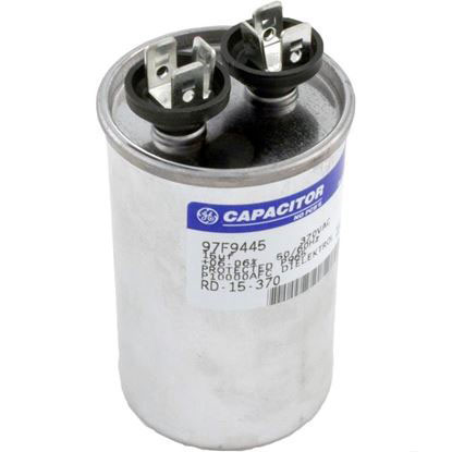 "Picture of Run Capacitor, 15MFD, 370v, 1-3/4"" x 2-7/8"""