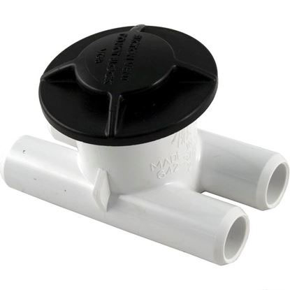 "Picture of Spa Vent, Vacuum Break Inlet, 3/4"" Smooth Barb, Black 640-3751v"