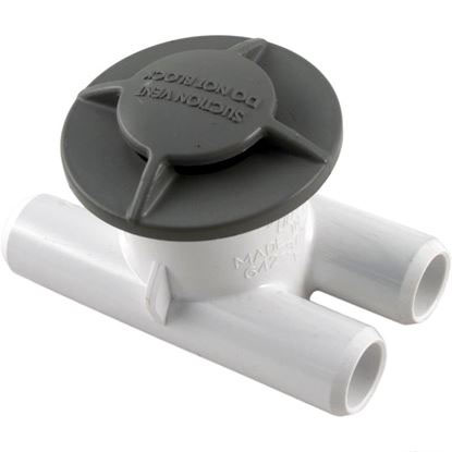 "Picture of Spa Vent, Vacuum Break Inlet, 3/4"" Smooth Barb, Gray 640-3757V"