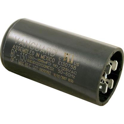 "Picture of Start Capacitor, 130-156 MFD, 115v, 1-7/16"" x 2-3/4"""