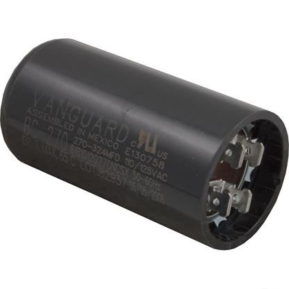 "Picture of Start Capacitor, 270-324 MFD, 115v, 1-7/16"" x 2-3/4"""