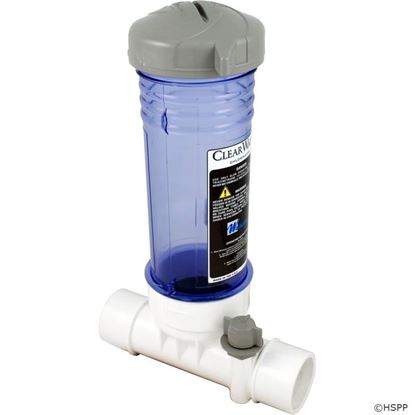 """Picture of Tablet Feeder, Waterway, In-Line, 2"""" Slip, Clear Clc012"""