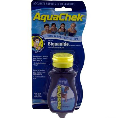 Picture of Test Strips, Aquachek Blue, 3-In-1, Biguanide, 25 Ct 561625a