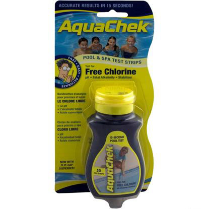 Picture of Test Strips, Aquachek Yellow, 4-In-1, Free Chlorine, 50 Ct 511242a