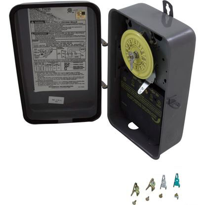 Picture of Time Clock, Intermatic , 24 hr, 115v, SPST, with Case T101R