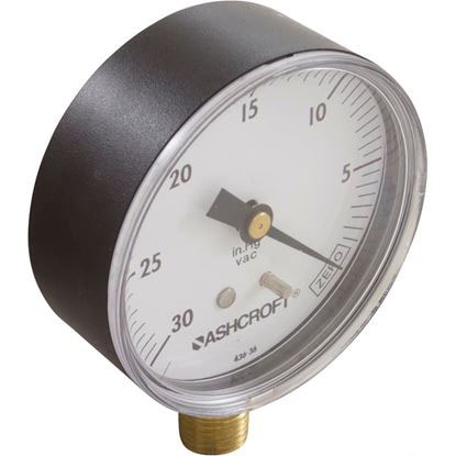 "Picture of Vacuum Gauge, 1/4""mpt, 0-30 in.Hg, Bottom Mount, Generic 1422"