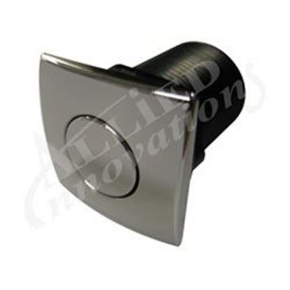 Picture of Air Button: #20 Zen Chrome Plastic Square- AM-AB-C-CP