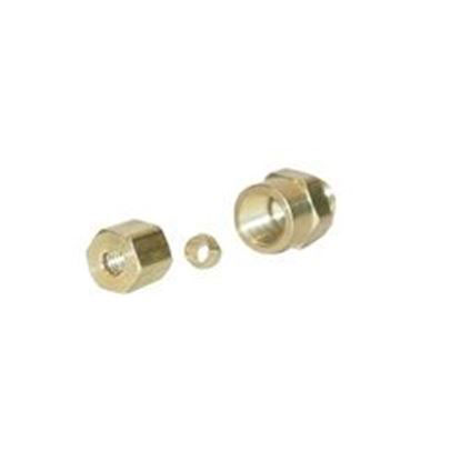 Picture of Compression Fitting: 1/8' Fip X 3/16' Od Brass- 66c-3-2