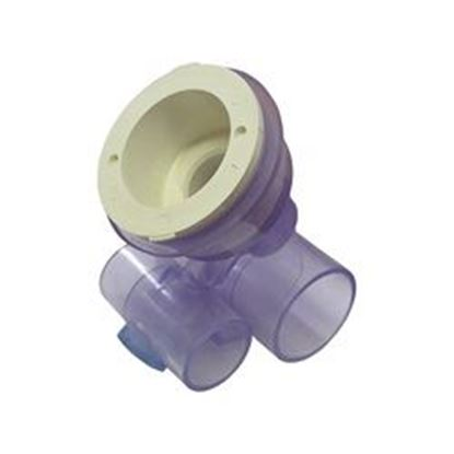Picture of 10-4560wht Jet Body: 1' Slip Air X 1-1/2' Slip Water For Micro'Ssage &Amp; Converta'Ssage -10-4560wht