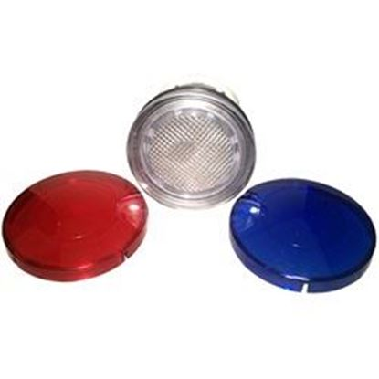Picture of 10000mb Light Part: 2-1/2' Wall Fitting With Lenses (Red / Blue)-10000mb