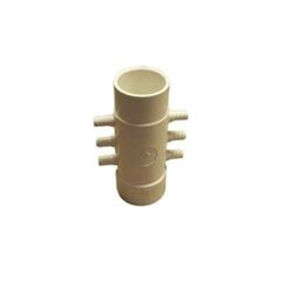 Picture of 425-4000 Manifold: 6-Port Flo-Thru 1-1/2' Spigot X 1-1/2' Slip X 3/8' Ribbed Barb-425-4000