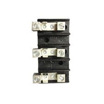 Picture of Terminal Block: 3 Position 14-4 Awg 50amp 110/220v- ERB44K