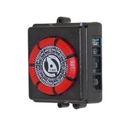 Picture of Time Clock: 110v 20amp 60hz 7 Day 4 Lug Red- PB873-RED