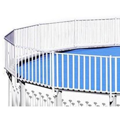 Picture of 24 Ft X 18 Ft Pole Pool Fence Kit Swpfar2418