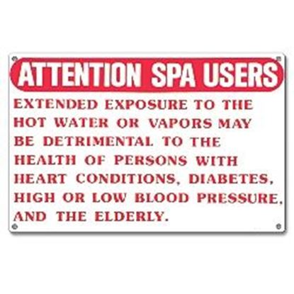 Picture of SIGN - ATTENTION SPA USERS PM40365
